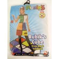 Rubik\'s Cube Costume, Multi-coloured, With Dress, Headband & Bag