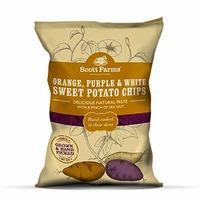 Scott Farms Orange, Purple & White Sweet Potato Chips 40g, White