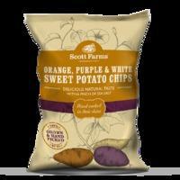 Scott Farms Orange, Purple & White Sweet Potato Chips 100g, White