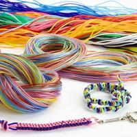 Scoubidou Braiding Cord. Opaque & Translucent. Pack of 100