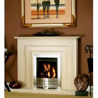 Seville Limestone Fireplace Package With Gas Fire