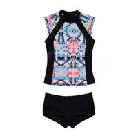 Seafolly Multicolor Swimsuit Children Galaxy Bliss Surf Set