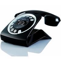 Sixty Digital Cordless Retro Style Telephone - Black