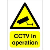 SignsLab A5 PVC Sign - CCTV IN OPERATION