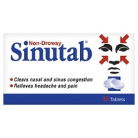 Sinutab Non-Drowsy 15 Tablets