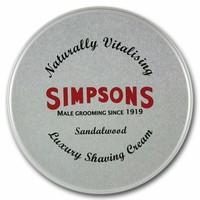 Simpsons Luxury Shaving Cream Sandalwood 125 ml Tin
