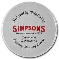 Simpsons Luxury Shaving Cream Peppermint and Rosemary 125 ml Tin