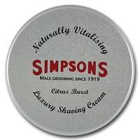 Simpsons Luxury Shaving Cream Citrus Burst 125 ml Tin