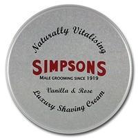 Simpsons Luxury Shaving Cream Vanilla And Rose 125 ml Tin