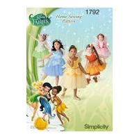 Simplicity Childrens Sewing Pattern 1792 Disney Fairies Tinkerbell Costumes