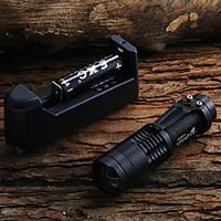 SK68 450LM LED Flashlight 2x14500 battery charger