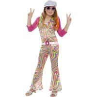 Smiffy\'s Children\'s Groovy Glam Costume, Jumpsuit, Belt, Jacket And Hat, Ages