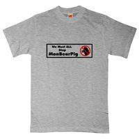 South Park T Shirt - We Must All Stop Manbearpig