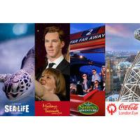 Special Offer ! BIG London Attraction Ticket Including Madame Tussauds, SEA LIFE Aquarium, London Eye and Shrek\'s Adventure! London