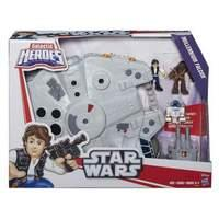 Star Wars Playskool Galactic Heroes Millennium Falcon and Figures