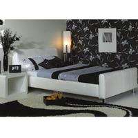 Star Collection Snow 6FT Superking White Leather Bedstead