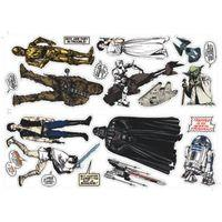 Star Wars Star Wars Multicolour Wall Sticker (L)700mm (W)50cm