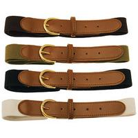 Stretch Belts ? Set of 4, Black, Size Extra Large, Polyester
