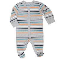 Striped Newborn Baby Sleepsuit - Grey quality kids boys girls
