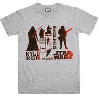 Star Wars The Force Awakens T Shirt - Red Villains