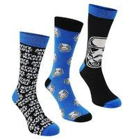 Star Wars Star Wars 3 Pack Crew Socks Mens