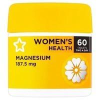 Superdrug Magnesium Tablets 187.5mg