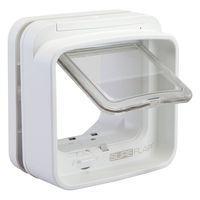 SureFlap DualScan Microchip Cat Flap - Adaptor for Installation in Windows (White)