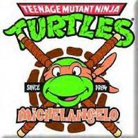 Teenage Mutant Ninja Turtles Tmnt Michelangelo Fridge Magnet Nunchucks