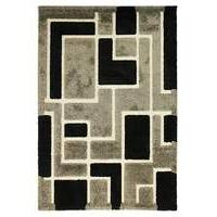 Textured Effect Block Design Rug