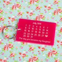 The Day You Became My Daughter Keyring