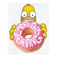 The Simpsons Eating - Mini Poster - 40 x 50cm