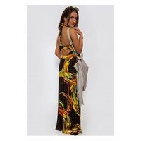 Tia Floral Strap Back Maxi Dress