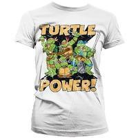 TMNT Turtle Power Womens T Shirt - Teenage Mutant Ninja Turtles
