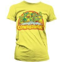 TMNT Cowabunga Surfers Womens T Shirt - Teenage Mutant Ninja Turtles