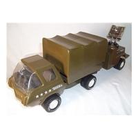 Tonka personnel carrier truck and trailer