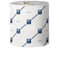 Tork Reflex Mini Wiper Roll 2-Ply 200 Sheets White Pack of 9