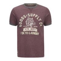 Tokyo Laundry Men\'s Tiger Lake T-Shirt - Bordeux Marl - S