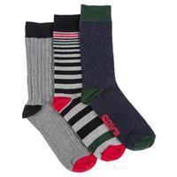 totes Mens 3 Pack Socks Plain One Size