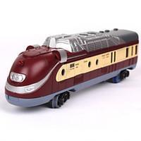 Track Rail Car Chic Modern Novelty Toy Train Novelty Dark Red Plastic Children\'s Day