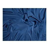 Trieste Plain Peachskin Polyester Dress Fabric Ink Blue