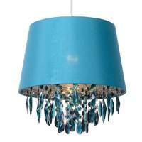 Turquoise Dolti hanging light + acrylic adornment