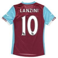 Umbro West Ham United Lanzini Home Shirt 2016 2017 Junior