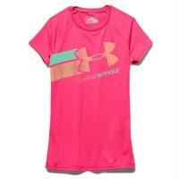 Under Armour Girls Fast Lane SS Tee - Harmony Red