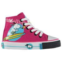 Unknown Snoopy Junior Girls Canvas Hi Trainers