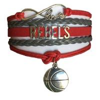 University of Nevada Las Vegas UNLV Rebels Fan Shop Infinity Bracelet Jewelry
