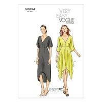 V8894 Vogue Patterns Misses Dress 380169