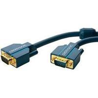 VGA Cable [1x VGA plug - 1x VGA plug] 3 m Blue clicktronic