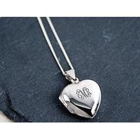 Vintage Monogrammed Heart Locket