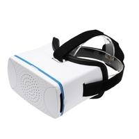 VR360 Head-Mounted Google Cardboard 3D VR Glasses Virtual Reality 3D VR Video Movies Games Glasses w/ Headband White for iPhone 6 6s Samsung All \