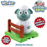 Weebledown Farm Weebles Toys Figure and Base - Fluffy the Sheep